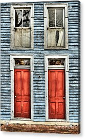 Two Red Doors Acrylic Print