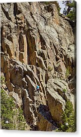 Acrylic Print featuring the photograph Two Rock Climbers Making Their Way by James BO Insogna