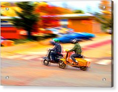 Two Scooters Acrylic Print by Craig Perry-Ollila