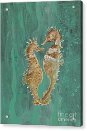 Two Seahorse Lovers Acrylic Print