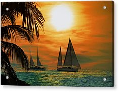 Two Ships Passing In The Night Acrylic Print by Bill Cannon