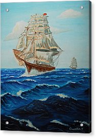Two Ships Sailing Acrylic Print