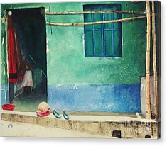 Two Shoes And A Melon Acrylic Print