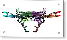 Two Sides - Duality Crab Art Acrylic Print
