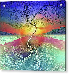 Two Sides To This Tree Acrylic Print