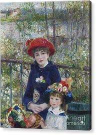 Two Sisters Or On The Terrace Acrylic Print by Pierre Auguste Renoir