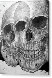 Acrylic Print featuring the photograph Two Skulls ... by Juergen Weiss