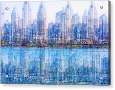 Two Skylines Acrylic Print by Joseph S Giacalone