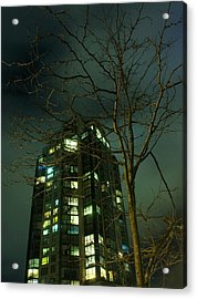 Two Skyscrapers Acrylic Print by Barbara  White