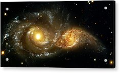 Two Spiral Galaxies Acrylic Print by Jennifer Rondinelli Reilly - Fine Art Photography