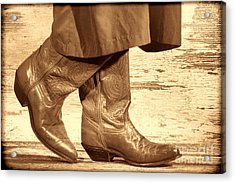 Two Step Acrylic Print by American West Legend By Olivier Le Queinec