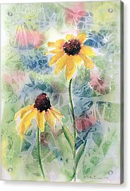 Two Sunflowers Acrylic Print
