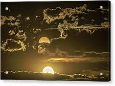 Two Suns Setting Acrylic Print