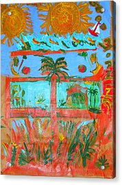Two Suns Today Acrylic Print by Angela Annas