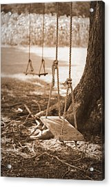 Two Swings - Sepia Acrylic Print