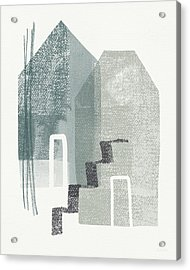 Two Tall Houses- Art By Linda Woods Acrylic Print by Linda Woods