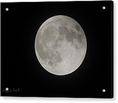 Two-tone Gray Moon Acrylic Print