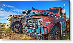 Two Trucks Acrylic Print