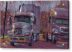 Two Trucks Acrylic Print by Donald Maier