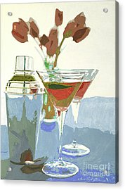 Two Tulip Martinis Acrylic Print by David Lloyd Glover