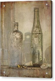 Two Vintage Bottles Acrylic Print