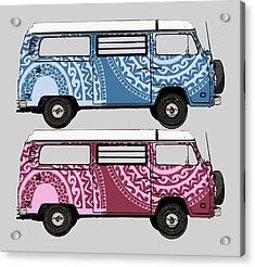 Two Vw Vans Acrylic Print