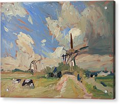 Two Windmills Acrylic Print