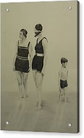 Two Women Bathers With Child Acrylic Print by John C