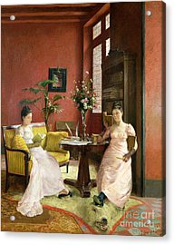 Two Women Reading In An Interior  Acrylic Print