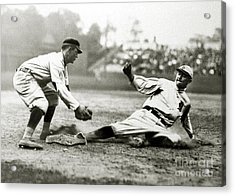 Ty Cobb Safe At Third  Acrylic Print