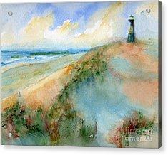 Tybee Dunes And Lighthouse Acrylic Print