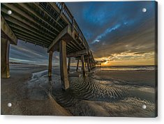Tybee Island Beach Pier  Acrylic Print