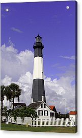 Tybee Island Lighthouse Acrylic Print by Elizabeth Eldridge