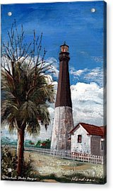 Tybee Lighthouse Acrylic Print by Robynne Hardison