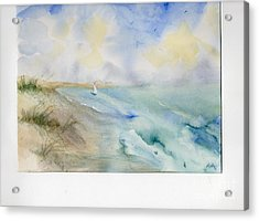 Acrylic Print featuring the painting Tybee Memory by Doris Blessington