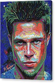 Tyler Durden Lives Acrylic Print by Maria Arango