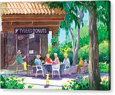 Tylers Donuts Acrylic Print by Ray Cole