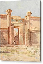 Tyndale, Walter 1855-1943 - Below The Cataracts 1907, The Ptolemaic Pylon, Medinet Habu Acrylic Print