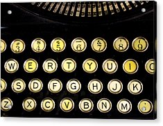 Typewriter Acrylic Print by Christopher Woods