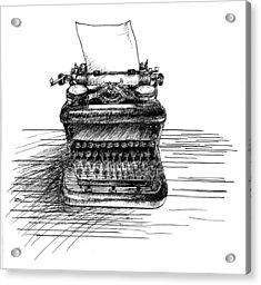 Typewriter Acrylic Print by Diana Ludwig