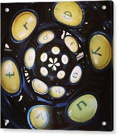 Typewriter Key Rose Acrylic Print