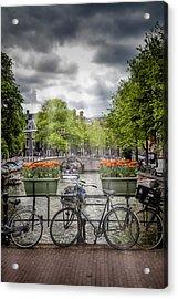 Typical Amsterdam Acrylic Print by Melanie Viola