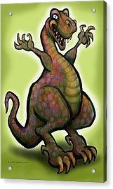 Acrylic Print featuring the digital art Tyrannosaurus Rex by Kevin Middleton