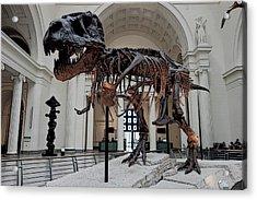 Acrylic Print featuring the digital art Tyrannosaurus Rex Sue - Chicago by Daniel Hagerman
