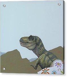 Tyranosaurus Rex Acrylic Print by Jasper Oostland