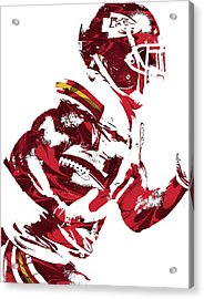Tyreek Hill Kansas City Chiefs Pixel Art 1 Acrylic Print