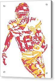 Tyreek Hill Kansas City Chiefs Pixel Art 5 Acrylic Print