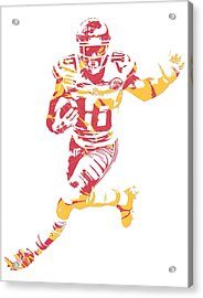 Tyreek Hill Kansas City Chiefs Pixel Art 6 Acrylic Print