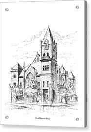 Tyrrell Historical Library Acrylic Print