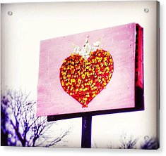 Tyson's Tacos Heart Acrylic Print